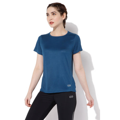 Women's Performance Cool T-Shirt-T-Shirt-Silvertraq-Navy Poseidon-XS-Silvertraq