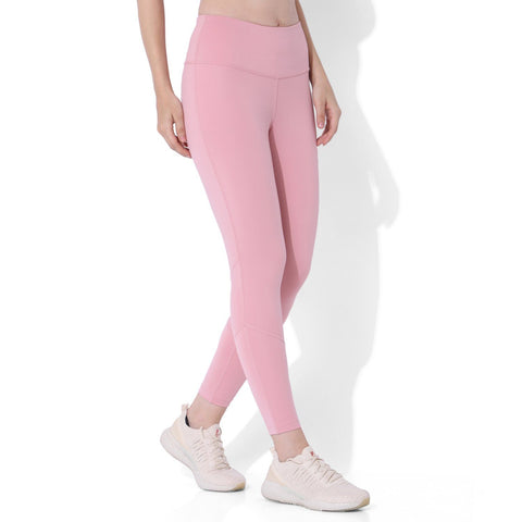 Ath Perform 7/8 High Waist Leggings Light Pink-Sports Leggings HWC-Silvertraq-Silvertraq