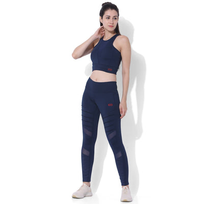 Biker Moto Leggings Navy-Leggings-Silvertraq-Silvertraq