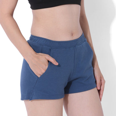 Balance Fleece Shorts Ensign Blue-Lounge Shorts-Silvertraq-Silvertraq