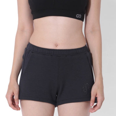 Balance Fleece Shorts Black Out-Lounge Shorts-Silvertraq-Silvertraq