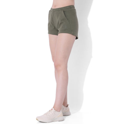 Balance Fleece Shorts Dusty Olive-Lounge Shorts-Silvertraq-Silvertraq