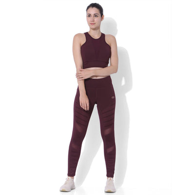 Biker Moto Leggings Plum-Leggings-Silvertraq-Silvertraq