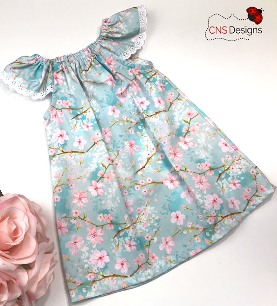 Cherry Blossom Seaside  Dress
