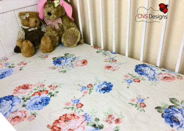Camellia Cot Fitted Sheet