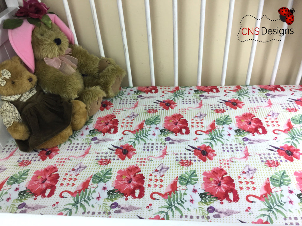 Paradise  Cot Fitted Sheet
