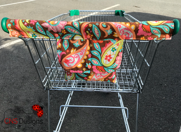 Green Roses Trolley Handle Cover