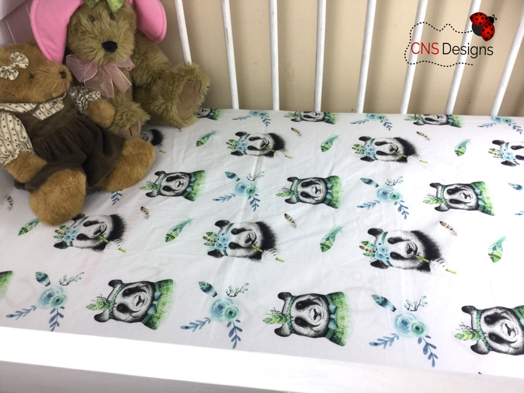 Panda Cot Fitted Sheet