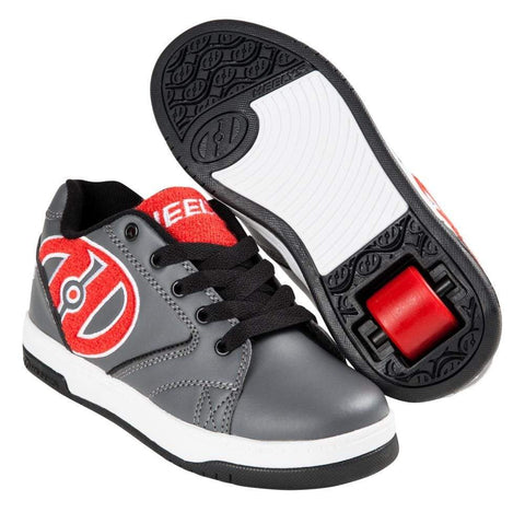 Heelys Propel Grey Red Terry One Wheel Heelys - Main View