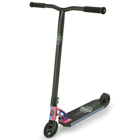 Neochrome Pink Blue MGP VX8 Stunt Scooter - Main View