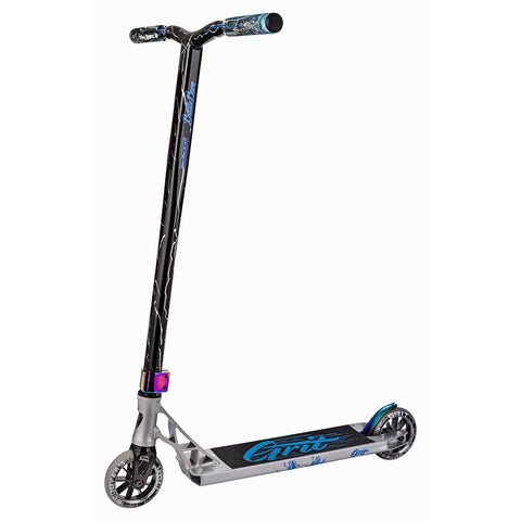 GRIT 2018 INVADER COMPLETE SCOOTER - POLISHED/BLUE SILVER LASER