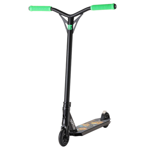 Black Green Sacrifice Stunt Scooter - Main View