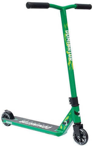 Black Green Dominator Stunt Scooter - Main View
