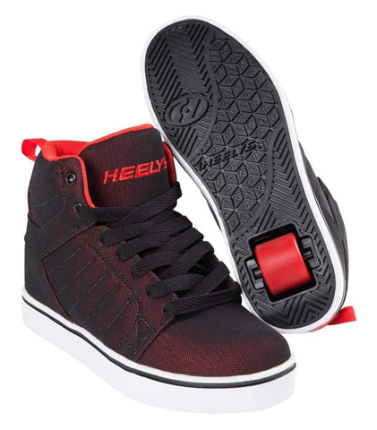 Heelys Uptown Black Red One Wheel Heelys - Main View