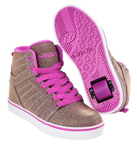 Heelys Uptown Purple Gold One Wheel Heelys - Main View