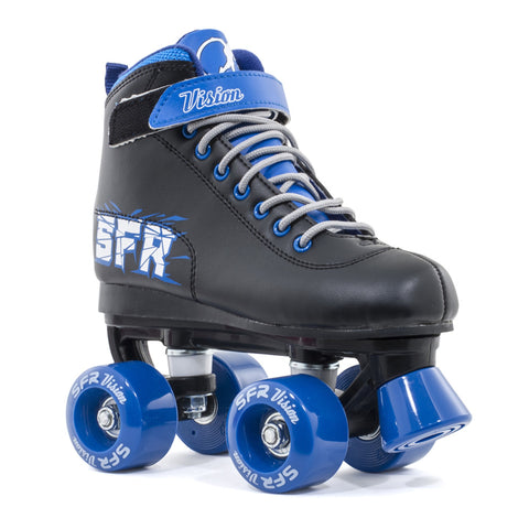 Black Blue Kids Roller Skate - Main View