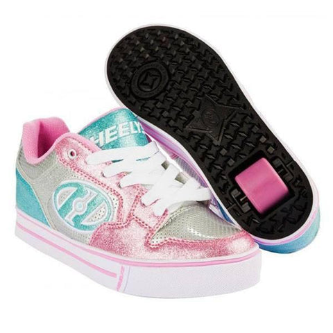 Heelys Motion Plus - Silver Light Pink Light Blue - Main View