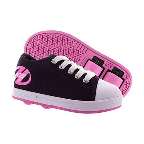 Heelys X2 Fresh Black Pink Girls Two Wheel Heelys - Main View