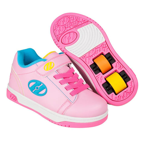 Heelys X2 Dual Up - Light Pink / Hot Pink / Neon Multi