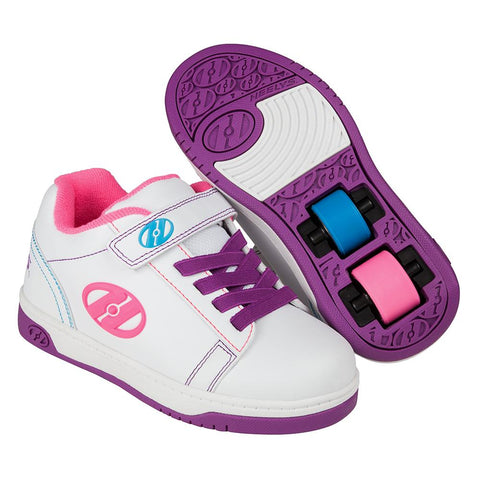 Heelys X2 Dual Up - White / Purple / Neon Multi