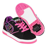 Black Pink Girls One Wheel Heelys - Main View