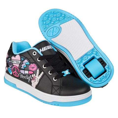 Heelys Split - Black / Aqua / Peace Patch