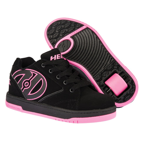 Black Pink Girls One Wheely Heelys - Main View