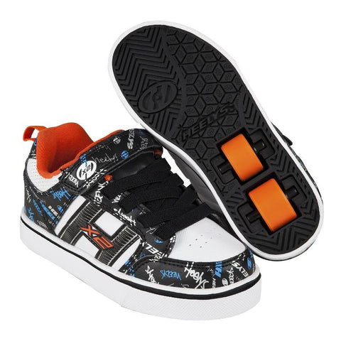 Black Orange Two Wheel Heelys Shoes - Main View