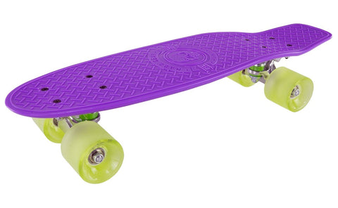 Madd Gear Pro Skins Retro Cruiser - Purple / Lime