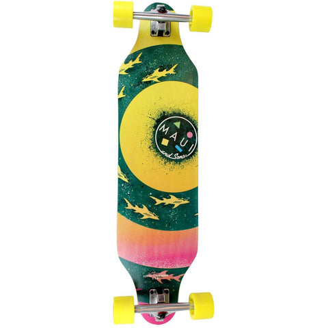 "Maui And Sons Bullseye Cut-Out 36"" Complete Longboard"