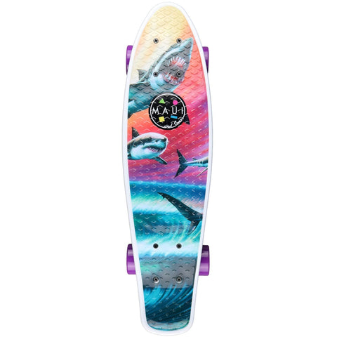 "Maui And Sons Wave Predators 24"" Complete Cruiser Skateboard"