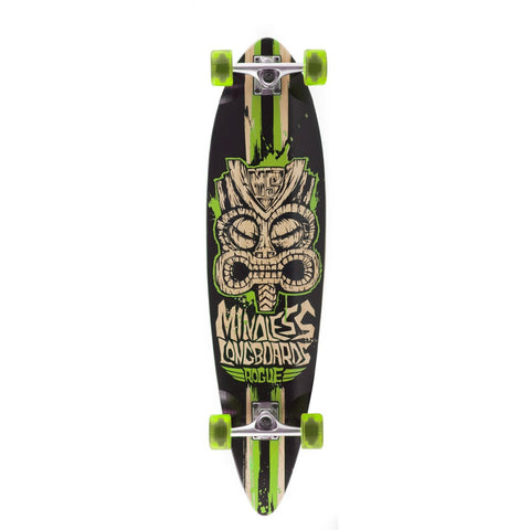 Mindless Tribal Rogue II Black/Green Complete Longboard Length 38""