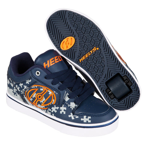 Blue Orange One Wheel Heelys - Main View