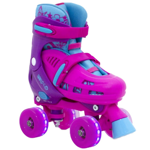 Pink Light Up Adjustable Roller Skates - Main View