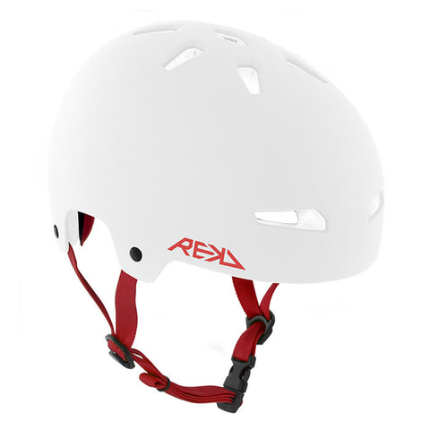 REKD Elite Skate and Bike Protective Helmet - White