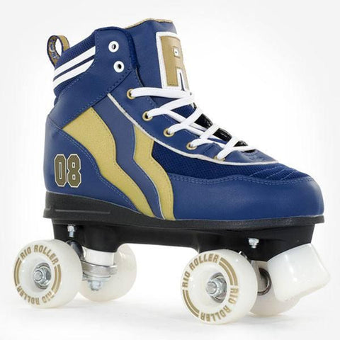 Rio Roller Varsity Blue Gold Kids Adult Quad Roller Skates - Main View