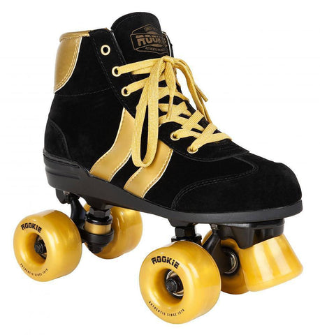 Rookie Authentic V2 Black/Gold Roller Skates - Main View