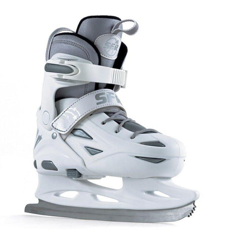 SFR Eclipse White Silver Kids Adjustable Ice Skates - Main View