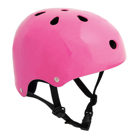 SFR Essentials Fluorescent Pink Adjustable Skate and Bike Helmet