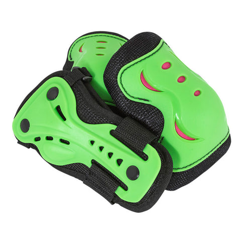 SFR Essentials Green Black Kids Triple Pad Set