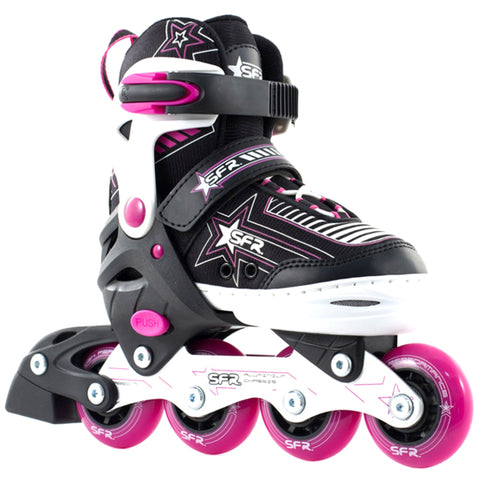 Pink Girls Adjustable Inline Skates - Main View