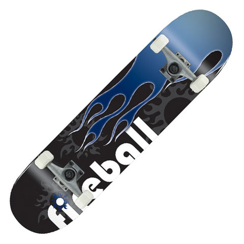Voltage Classic Fireball Blue Complete Skateboard