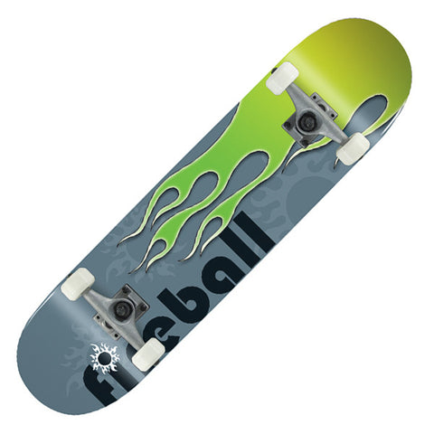 Voltage Classic Fireball Green Complete Skateboard