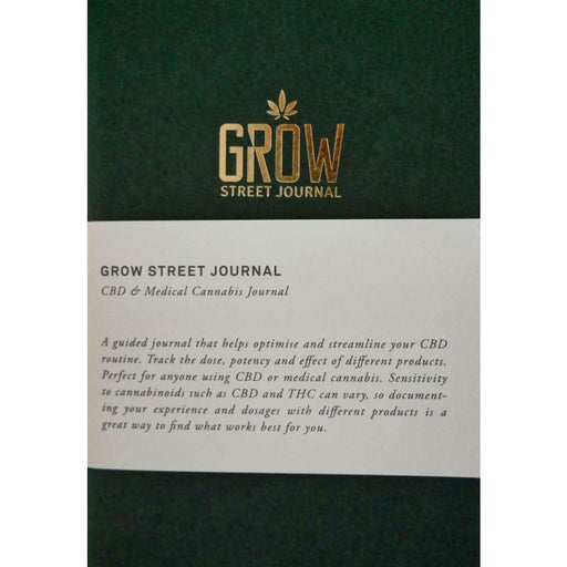 Grow Street Journal Book Guided Cannabis & CBD Journal
