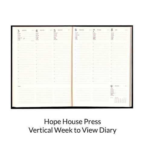 Vertical week to view diary 2017