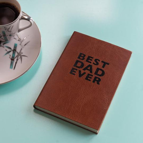 best dad ever personalised leather journal