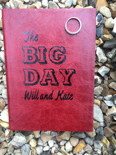 The BIG DAY - personalised wedding guest book - perfect as a personalised guest book for a wedding - or to gift to the happy couple