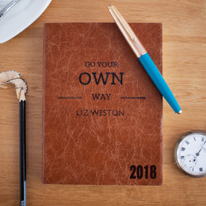 2018 diary - Go your own way diary - Personalised diary Diary / Journal- Hope House Press