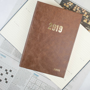 2020 diary - personalised diary - leather diary with bespoke personalisation Diary / Journal- Hope House Press