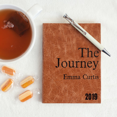 2019 diary - The Journey - personalised leather diary - dated journal for 2019 Diary / Journal- Hope House Press